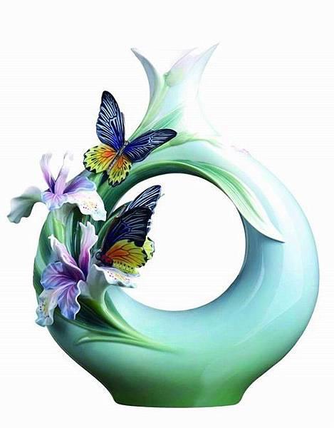 【相伴】黃裳鳳蝶瓷瓶--法藍瓷提供