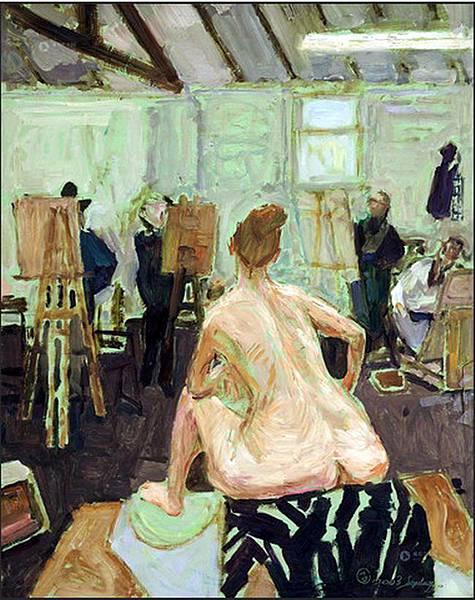 戴士和的油畫作品《畫室一角》(2003)