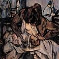 戴士和油畫《母與子》