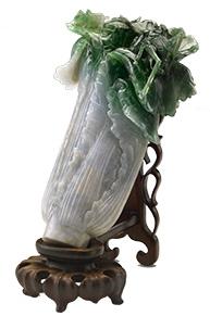 台灣國立故宮博物院的鎮館之寶《清 翠玉白菜》