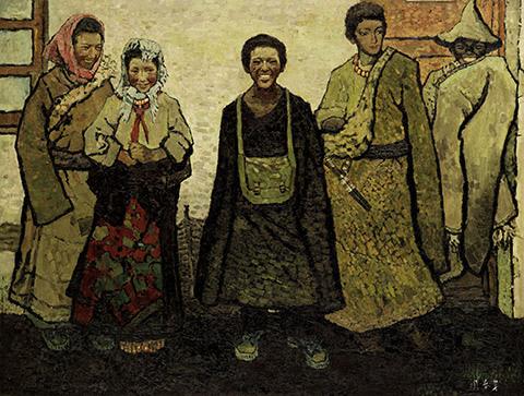 周春芽《藏族新一代》(1980),於2013年11月香港佳士得「亞洲二十世紀及當代藝術」拍賣中以3372萬港元之高價成交 (圖:佳士得官網)