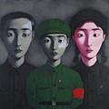 張曉剛的《血緣:大家庭3》油畫172x229cm(1995)在2014年4月蘇富比香港「現當代亞洲藝術」拍賣會中創下藝術家個人新高紀錄:以9420萬港元成交