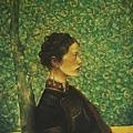 龐茂琨《女人像(彝族姑娘)》73x91cm (1989)