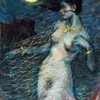 趙大陸油畫《漁妖》(94.5x60.5cm,1979)曾參展首屆北京「星星美展」,此作品以437000人民幣的高價於2014年6月在北京拍出