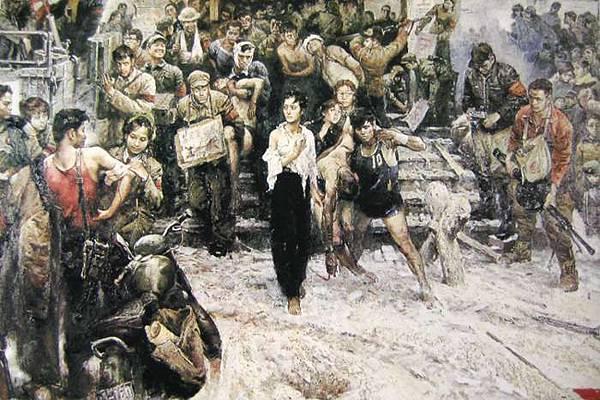 四川美院「傷痕美術」代表人物之一程叢林的油畫《1968年x月x日雪》