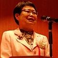 台灣國立故宮博物院現任館長馮明珠在日本東京國立博物館「神品至寶」展覽開幕現場致詞 (攝影組)