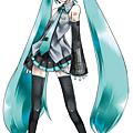 最初於2007年由日本CRYPTON FUTURE MEDIA公司開發的《初音未來》虛擬女歌首軟體近年全球爆紅,也曾來日美港台等全球各地舉辦過演唱會。圖為這個女歌手的原始形象設計 (圖擷自網路)