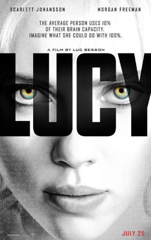 電影《露西LUCY》英文版的海報 (環球影業發行)
