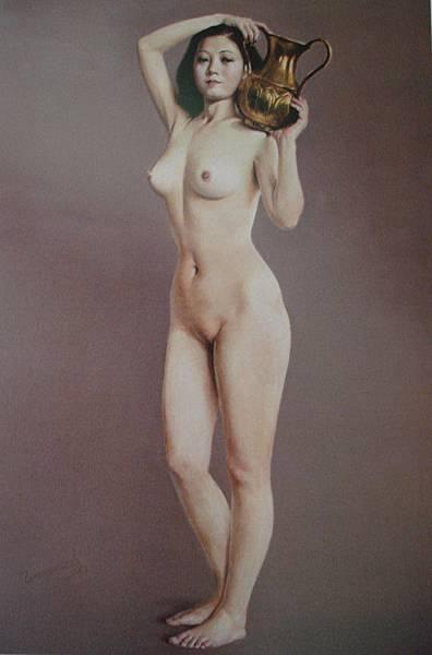 王暉的人體油畫被他的老師吳冠中及靳尚誼讚賞