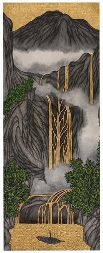 《萬歲山水 (上卷)   臨 吳彬「山陰道上圖卷」局部》,姚瑞中作品 (2012)