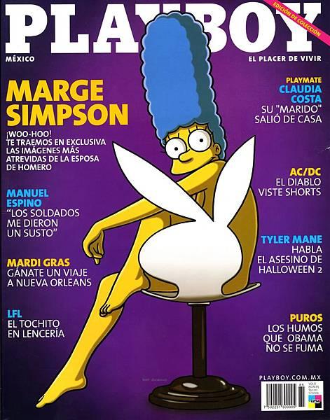 2009年時辛普森太太「瑪姬」登上《PLAYBOY》雜誌,轟動全球