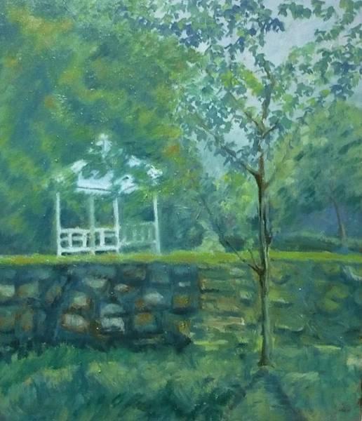 柯秀瑩油畫10F《杉林溪之夏》