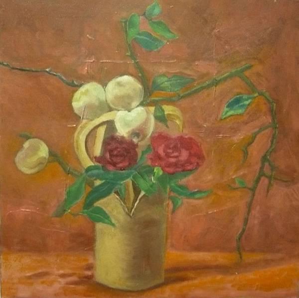 柯秀瑩油畫30×30cm《靜物》