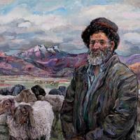 劉秉江油畫《塔吉克幕羊人》布面油彩 (2009) 曾以190400人民幣拍出