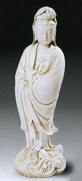 明代《渡海觀音》德化縣出品白瓷拍賣價260萬人民幣