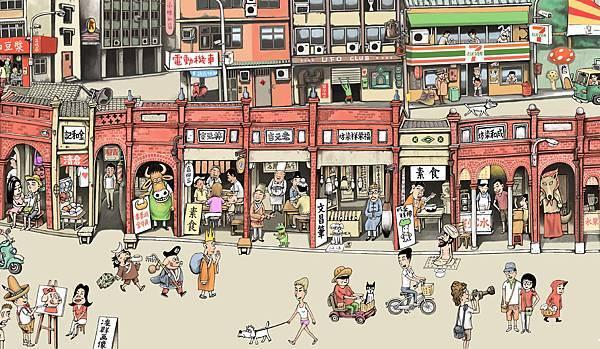 參加三峽的「瘋漫畫」觀眾可以免費讓知名漫畫家操刀你的「漫畫人像畫」