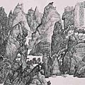 張光賓水墨作品《湖山清景》