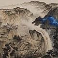 張大千《潑彩山水》(1953),該作品曾於2013年拍出約12億台幣新高紀錄 (國立歷史博物館 提供)