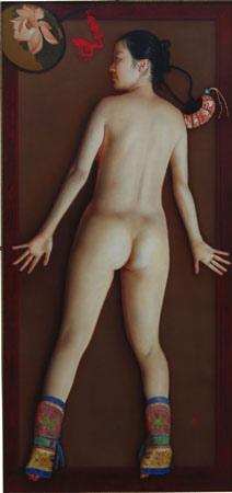 女人體畫被夏星分成兩類:一類養眼的,感官在前;一類養心的,意義在前