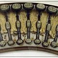 收藏於中國河北省博物馆收藏的檀木青白玉鏤雕瓜果「九九如意」