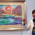 1970到1990年代家喻戶曉的漫畫家黄木村,在1996年移居加拿大,轉而精研「生存色彩學」,後來還在中國北京等地辦個展