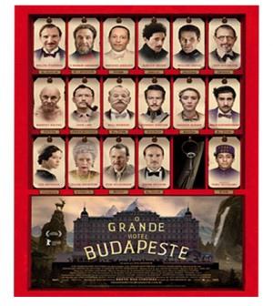 本屆奧斯卡金像獎大黑馬?電影《O Grande Hotel Budapeste》,中譯「歡迎來到布達佩斯大飯店」的電影海報之一 (擷自網路)