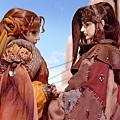 《奇人密碼:古羅布之謎》劇中人「張墨」與「卡密妲」對視 (偶動漫娛樂 提供)