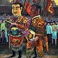許宜家上傳於臉書網頁的視覺藝術創作,參加藝術挑戰活動,以民俗庶民文化系列三幅之一 (擷自藝術家粉絲頁)