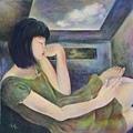 王群上傳於臉書網頁的視覺藝術創作,參加藝術挑戰活動 (擷自藝術家粉絲頁)