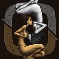藍聖傑上傳於臉書網頁的視覺藝術創作,參加藝術挑戰活動 (擷自藝術家粉絲頁)