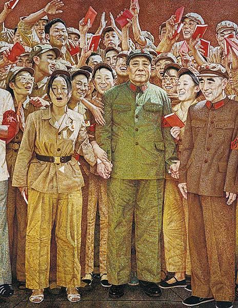 寫實派畫家中堅:龍力游的知名油畫《1966-8-18》(1991) ,276.5×216.5cm,曾於2013年創下藝術家作品最高拍價784萬人民幣,可略知:政治主題的懷舊想像空間如今看來更大、而非更小。