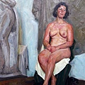 龍力游《人體》油彩畫布90x60cm,2013年以100萬人民幣落槌