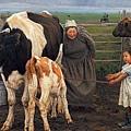 龍力游《初生的牛犢》(2008)油畫120×160cm,2013年曾以391萬人民幣拍出