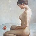 林樹森《人體》油彩畫布 30F ( 私人收藏)