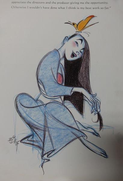 女裝的木蘭圖稿