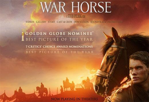 NFTS數位特效學系校友曾參與《戰馬》電影後製工作,圖為該片海報 (擷自網路)