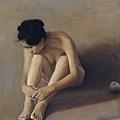王宏劍的寫實人體畫除了技法高明外,構圖與透視角度也非常講究