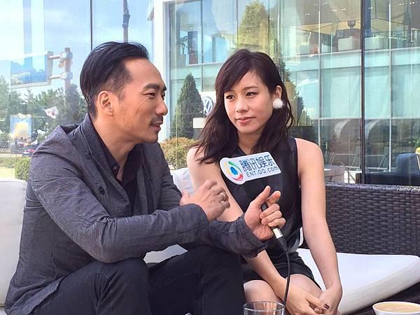 【百日告別】男女主角石頭林嘉欣於釜山接受媒體專訪