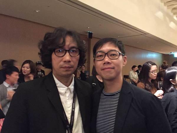 左是《在世界的中心呼喊愛情》導演行定勳;右是《百日告別》導演林書宇