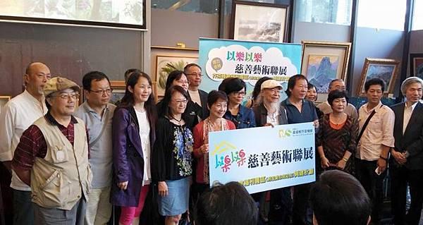 20多位藝術家親臨現場支持愛心育幼院重建 (多汁報攝影組)