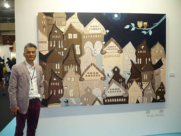 藝術家蕭耀的複合媒材作品《仲夏夜之夢》—多汁報攝影組