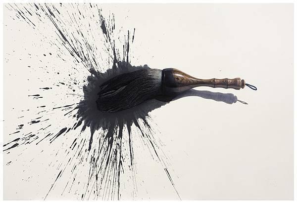 李錠雄 Lee Jung-Woong 畫筆 Brush 162x115cm 2008 油彩 韓國紙 Oil on Korean Paper