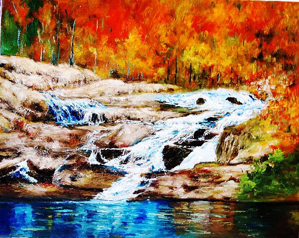 秋色連波  Autumn  Splendor  油彩畫布 oil on Canvas 91cm x 72.5cm 30F 2013