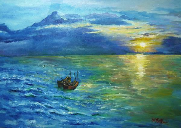 晨歌 Morning  Song 油彩畫布 oil on Canvas 91cm x 72.5cm 30F 2015
