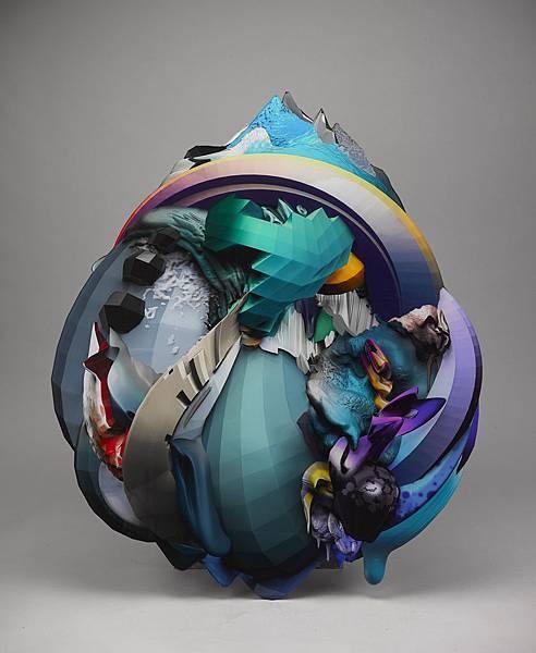 吳權倫〈Debris - Drop〉2013, 金屬相紙、水晶裱褙, 122 x 103 cm