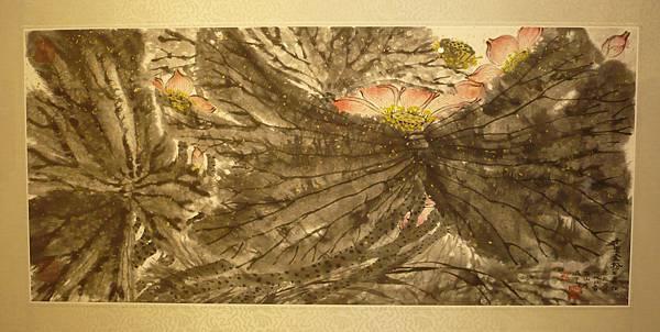 曾肅良水墨作品《十里金粉》—多汁報攝影組
