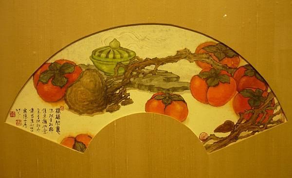 曾肅良扇面作品《柿柿如意》—多汁報攝影組
