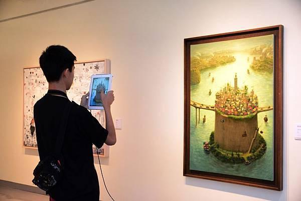 「自然魔法師」展覽使用擴增實境讓作品動起來
