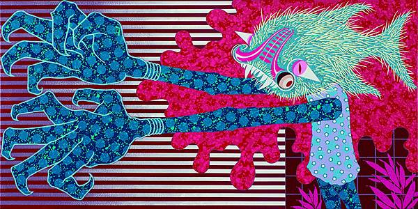 廖堉安 Liao Yu An 追求者之歌 Song of a Suitor 80x160cm 2015 壓克力顏料 畫布 Acrylic on Canvas