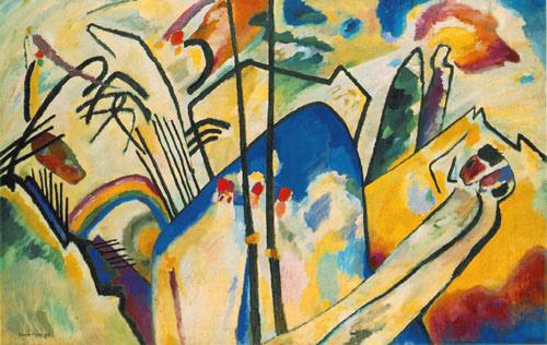 康定斯基 W. Kandinsky《構成第四號 Composition IV》 (戰鬥) 油彩畫布 1911